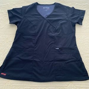 GREYS ANATOMY Medium Black Scrub Top